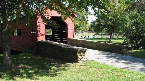 Baker Park Covered Walking Bridge Over Carroll Creek