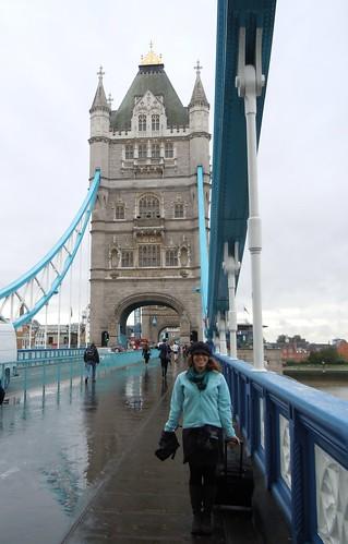 Lauren on the Tower Bridge