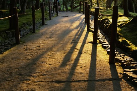 Sunset shadows, Ginkaku-ji (Silver Pavilion)