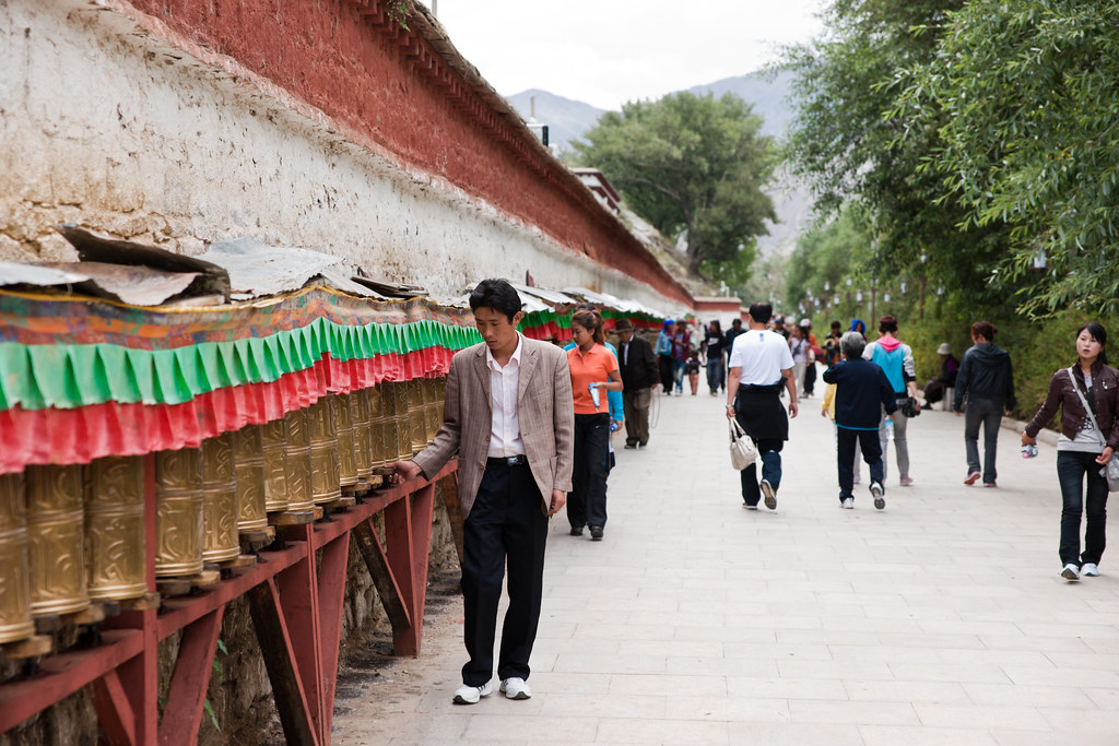 Prayer Wheels of The Potala Palace