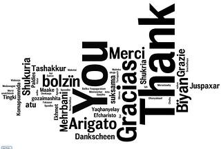Many ways of saying gratitude
