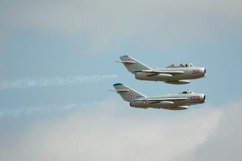 MiG-17 and MiG-15 Soviet planes
