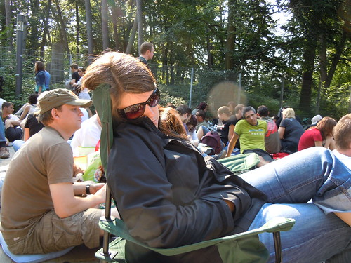 snoozing in the GA line