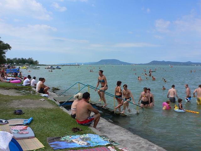 Wild Swimming in Hungary Lake Balaton