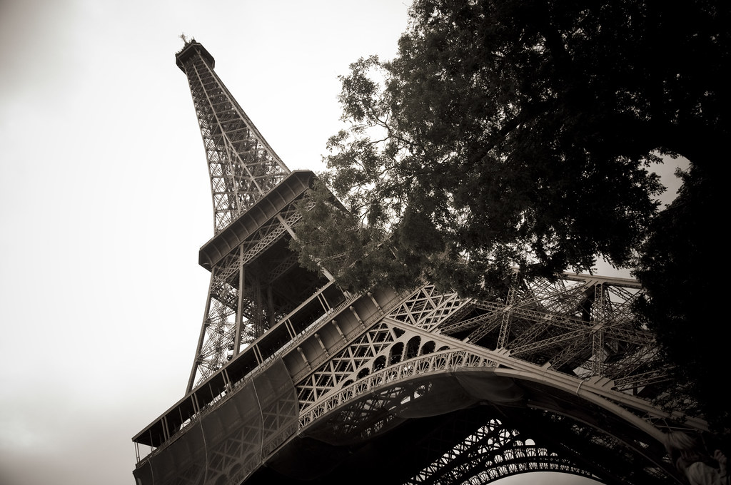Eiffel Tower in Antique Light