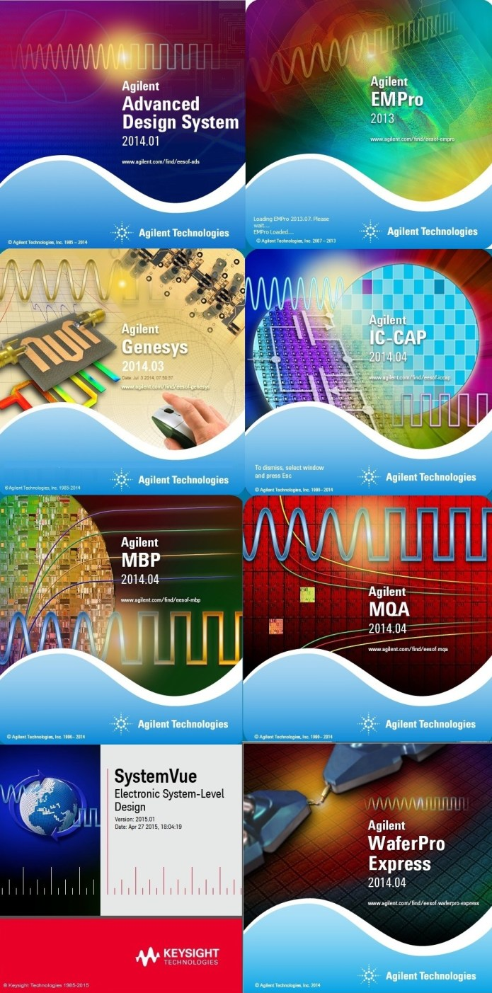 Keysight Suite 2014-2015 (ADS,EMPro,WaferPro,IC-CAP,SystemVue,MBP-MQA) Win32