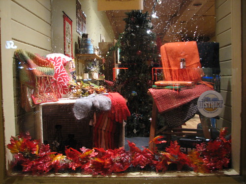 Fall Window Display by msfairtrade