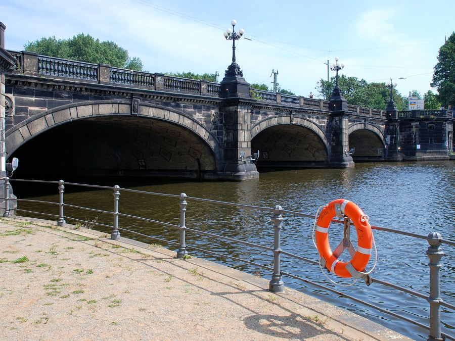 9 Bruggen in Hamburg, Lombardsbrücke, foto door Wolf Rabe | Standort Hamburg