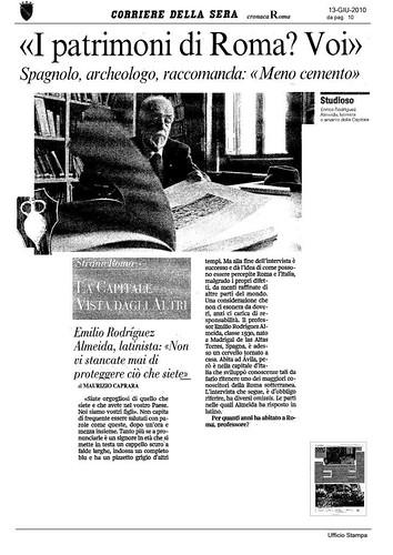 Rome - Prof. Emilio Rodriguez Almeida, Corriere Della Sera (13.06.2010), p. 10 & R. Meneghini, R. S. Valenzani (a cura di), Forma Urbis Romae. Nuovi frammenti di piante marmoree dallo scavo dei Fori Imperiali, (BCom Suppl. 15), Roma 2006, pp. 82-83. by Martin G. Conde
