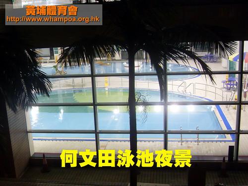 何文田室內游泳池 夜景