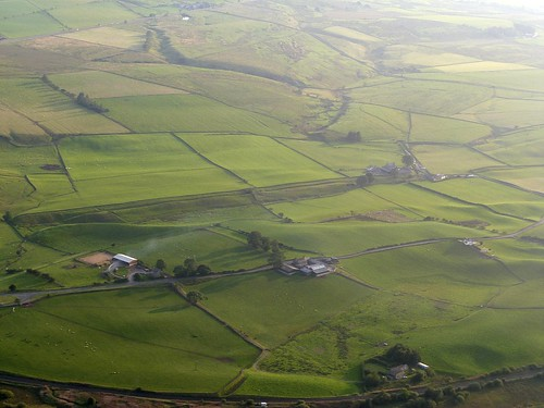 The site of Milecastle 47 from the air