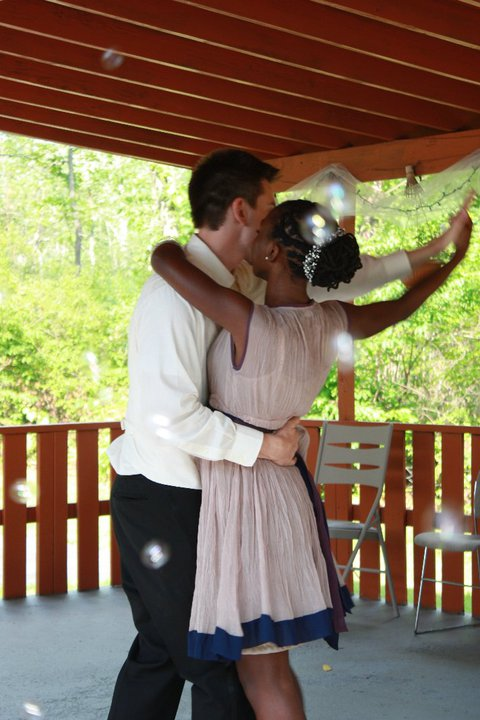 """first dance to """"Never Knew I Needed"""" by Ne-Yo. The guests blew bubbles as we twirled)"""