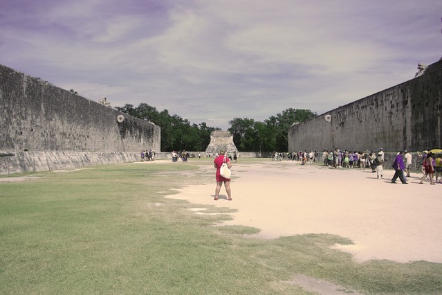 Ball court in Yucatan