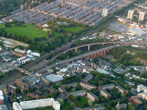 An aerial perspective on the Ouseburn valley