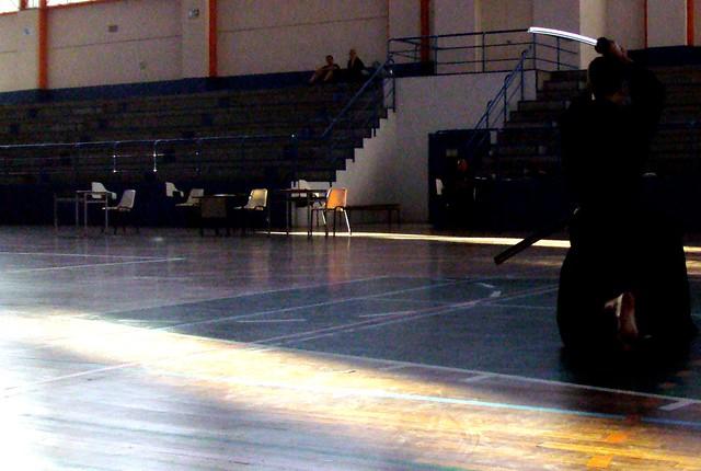 Y esto es Iaido. La imagen no transmite, no puede, todo lo que de fascinante y bello tiene este arte marcial.  Campeonato de España de iaido 2010