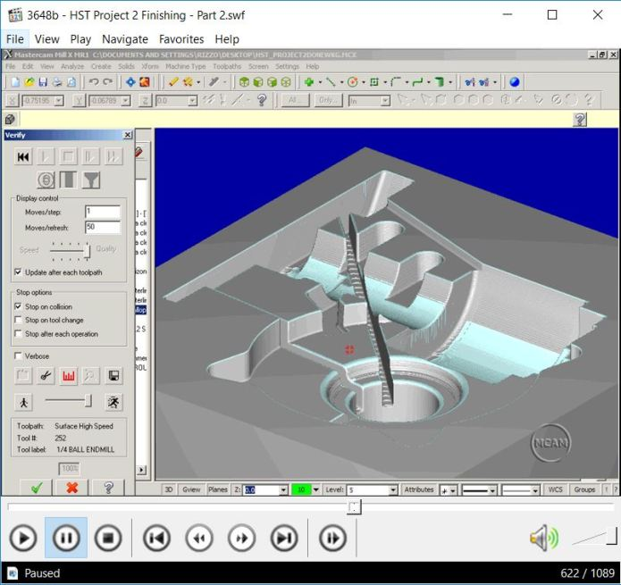 MASTERCAM V9-X6 VIDEO TRAINING FOR PROFESSOR