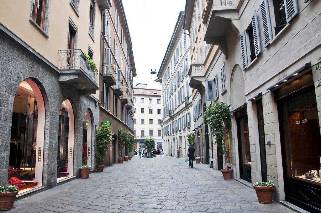 Shopping Street at Via della Spiga