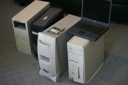 Old Computers: Give Away or Recycle? by kalebdf, on Flickr