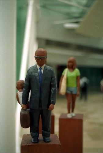 Statues in walkways