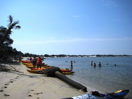 Paddling with Kayak Amelia, Stop for a Swim at Little Talbot Island State Park, Florida