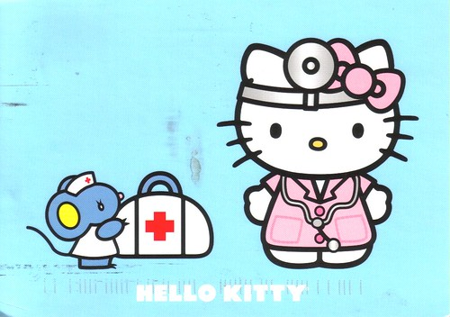Doctor Hello Kitty postcard