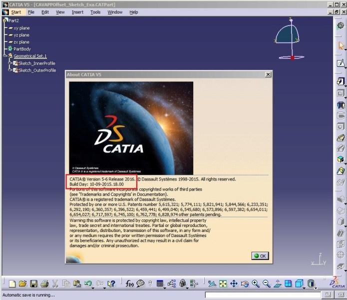 interface CATIA P3 V5-6R2016 full license