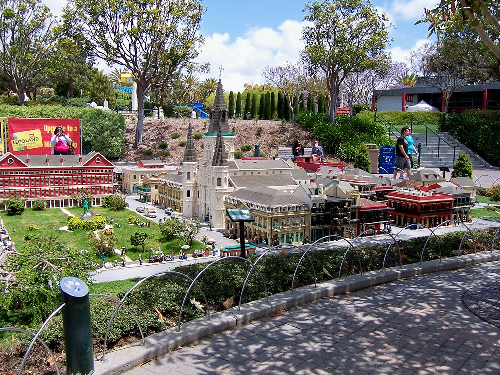 The French Quarter of New Orleans area of MiniLand USA.