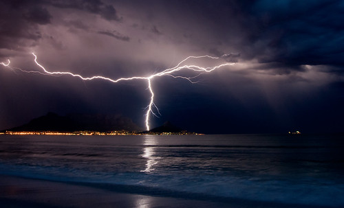 Lightning over Cape Town