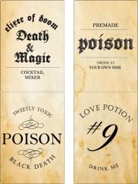 halloween poison labels