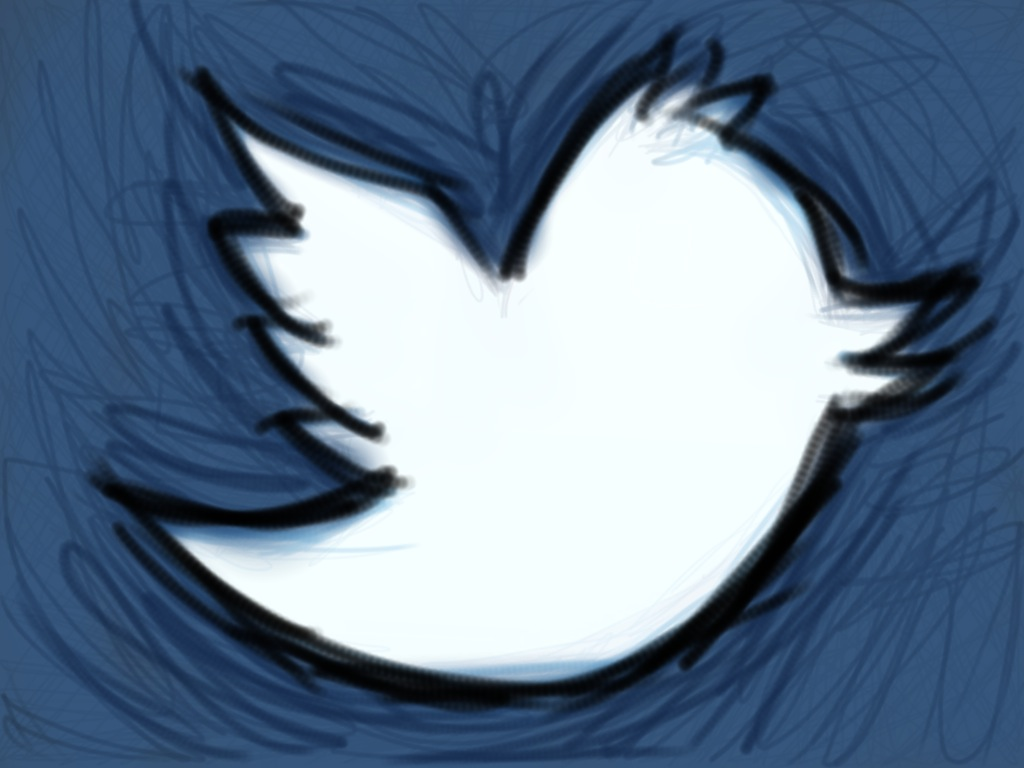Hand-Drawn Twitter Logo by Shawn Campbell