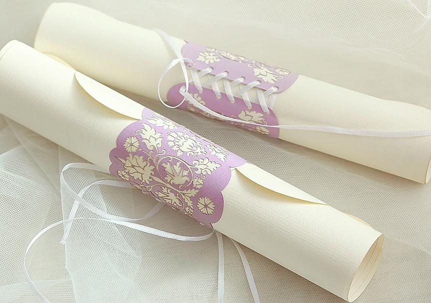 Wedding invitation-scroll