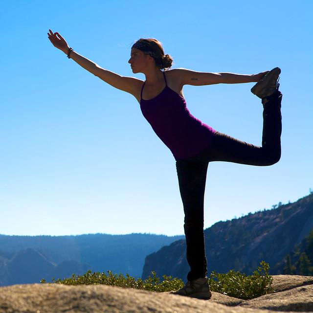 Yoga in Yosemite
