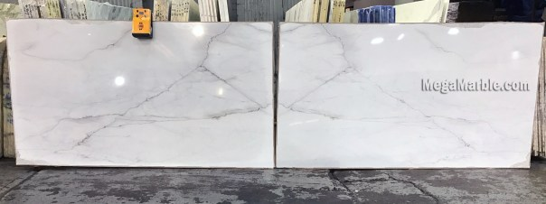 Calacata Lincoln Bookmatched Natural Stone Marble Slabs For Countertops & Wall