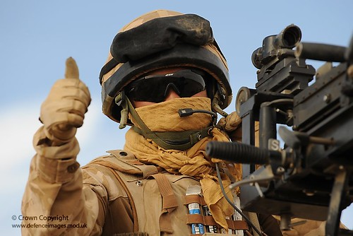 Soldier Gives Thumbs Up