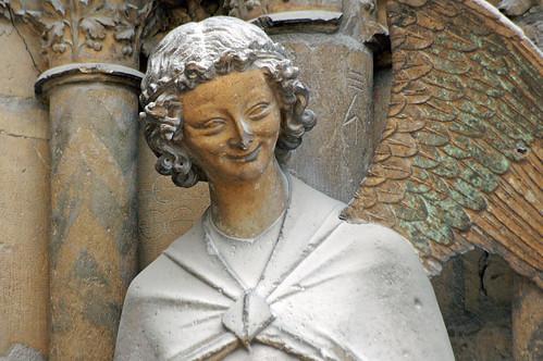 Cathédrale de Reims (Marne). Ange Gabriel, groupe de l'Annonciation.