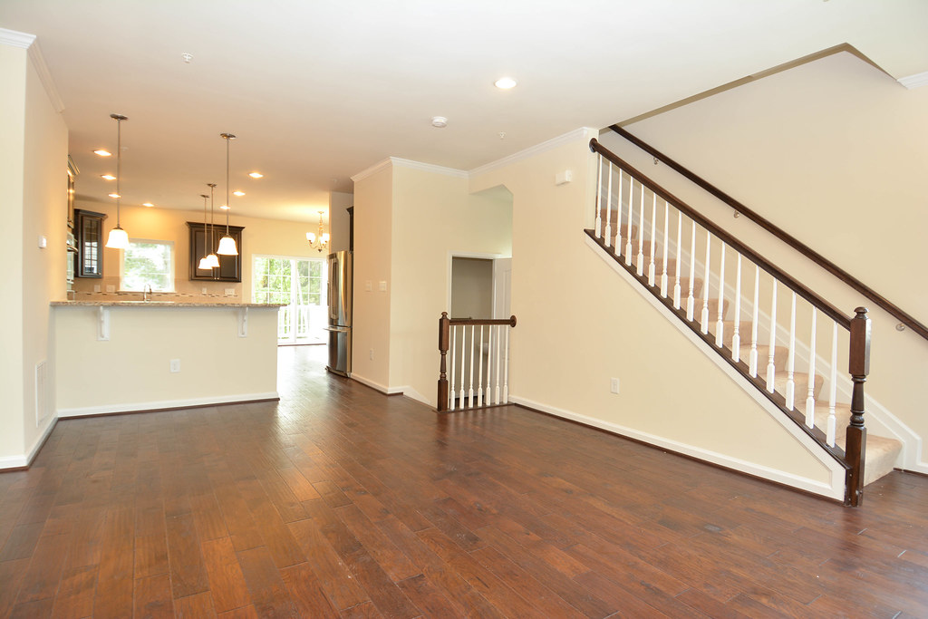 Empty Living Room In New Construction Townhome Empty