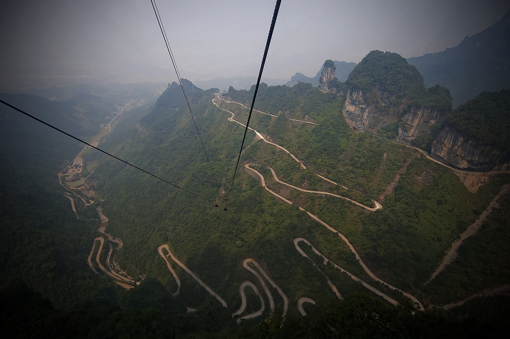 Road to Tianmen mountain
