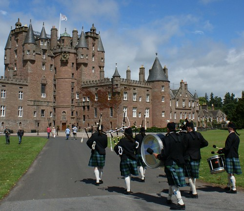 July 11th Photograph Marching Pipe Band Glamis Castle Scotland