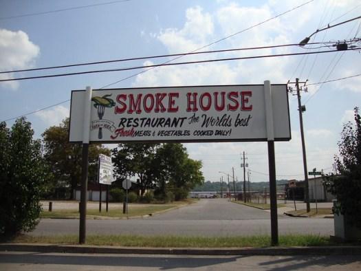 Sign, Smoke House Restaurant, Birmingham AL