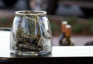 Tip Jar at Open Bar