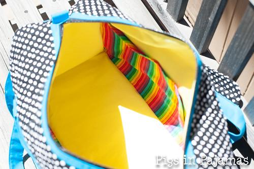 Weekend Duffle, pattern by Betz White - inside