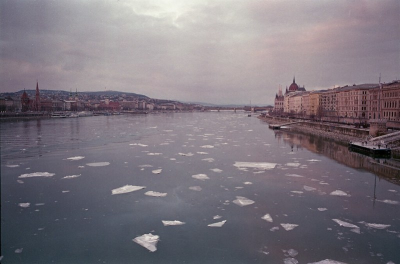 River Danube with Ice