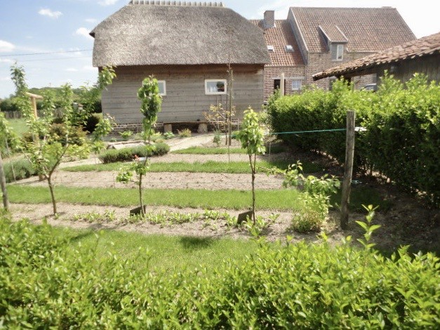 Tuin landhuis Vlaamse stijl