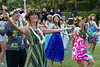 The traditional hula tribute performed by graduating UH law school students at a graduation ceremony on May 14 at Andrews Amphitheater. Photos by Spencer Kimura and Mike Orbito.