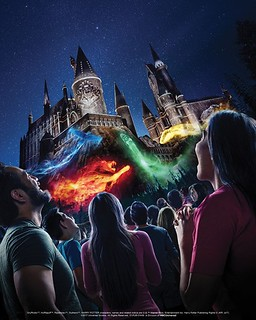 """The Nighttime Lights at Hogwarts Castle"" at ""The Wizarding World of Harry Potter"" - Universal Studios Hollywood"