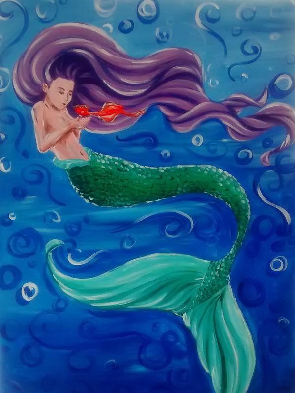 Mermaid and Goldfish