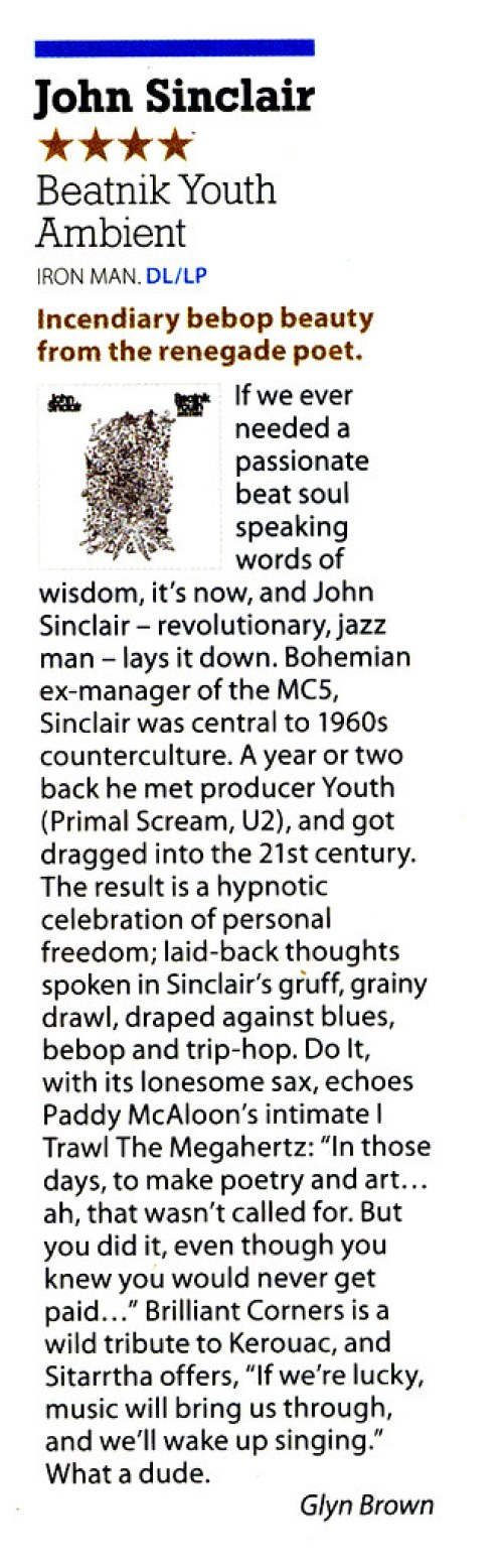John Sinclair Beatnik Youth Ambient review MOJO Aug 2017