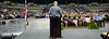 """Interim Dean H. Ronald Riggs addresses the largest graduating class in the College of Engineering's history at the Neal S. Blaisdell Arena on May 12, 2017.  View more photos at the college's Flickr site: <a href=""""https://flic.kr/s/aHskZGyTa5"""" rel=""""nofollow"""">flic.kr/s/aHskZGyTa5</a>"""
