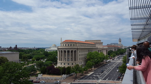 Looking down Pennsylvania Ave from the Newseum