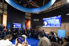 Jan Woerner and ESA directors during the 'Space 4.0ur future: ESA in motion' press conference